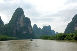 the Li river near Guilin