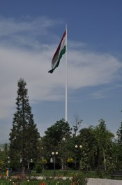 World biggest flag measuring 60 meters by 30 meters and 165m tall