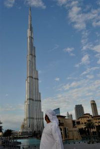Burj Khalifa, 828m (highest building in the world 2011)