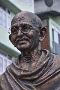 statue Mahatma Gandi (1869-1948) in Gangtok