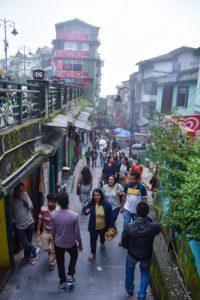 shopping street in Gangtok